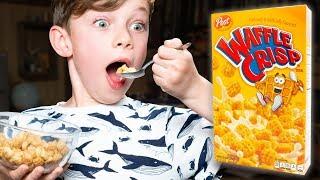 Discontinued Waffle Crisp Cereal Taste Test