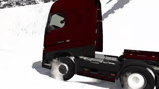 52 tonla karlı yokuş