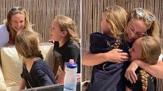 video: Watch: NHS mum reunited with daughters after more than two months apart
