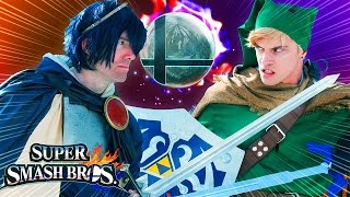 Super Smash Bros: Link Vs Marth (Live-Action)