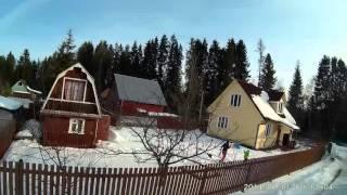 Зимние полеты на квадрокоптерах Drone Racing от первого лица
