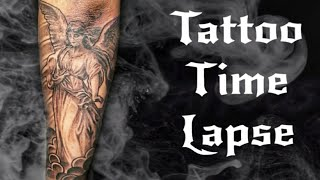 Angel Tattoo Timelapse