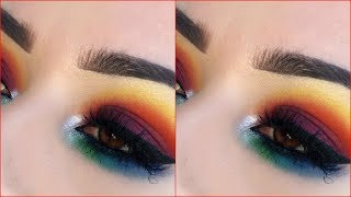 RAINBOW EYES AFRIQUE PALETTE BY JUVIAS PLACE TUTORIAL