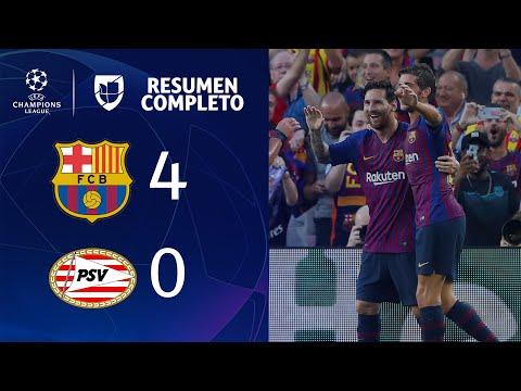 Barcelona 4-0 PSV - GOLES Y RESUMEN - Grupo B UEFA Champions League