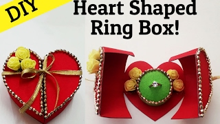 DIY Heart Box With Surprise Ring For Valentines Day | Valentines Craft Ideas | StylEnrich