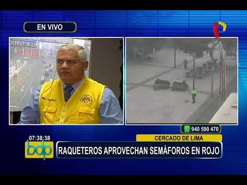 Cercado de Lima: 'raqueteros' aprovechan semáforos en rojo para robar