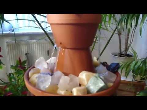 Springbrunnen selber bauen aus Tontöpfen - Raumbefeuchter, DIY Wasserspiel bauen - Fountain