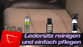 Lederreinigung - helles und dunkles Leder reinigen Koch Chemie  Drivelegance Dr.Wack A1 Lederpflege