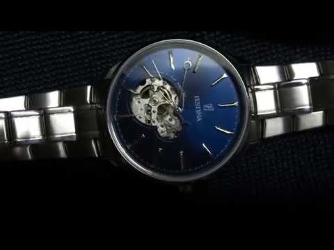 Festina Automatik Herrenuhr F6847/3 in Silber / Blau mit Gliederarmband und mechanischem Uhrwerk