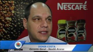 Gerente geral da Nestlé Araras, oficializa investimento milionário na unidade
