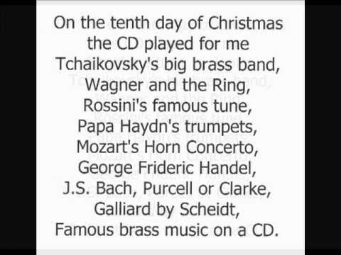 On The 12 Days Of Christmas Lyrics.Canadian Brass Twelve Days Of Christmas Lyrics Christmas