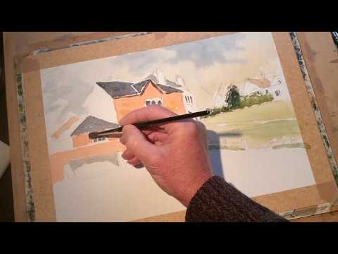 Thumbnail of How to paint buildings and their reflections