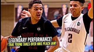 Trae Young TAKES OVER In Front of 50+ D1 Coaches! LEGENDARY Performance at Nike Peach Jam!