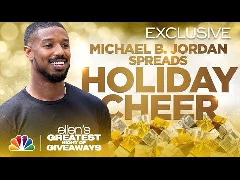 Michael B. Jordan Brings a Community Joy - Ellen's Greatest Night of Giveaways