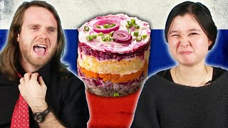 Americans Try Russian Holiday Food