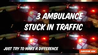 Biker Clears Way for An Ambulances to Save Life's - #3 #Ambulance #Emergency #Helping