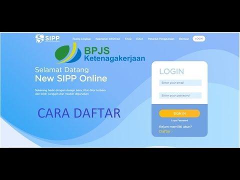 Tutorial Daftar SIPP Online BPJS Ketenagakerjaan