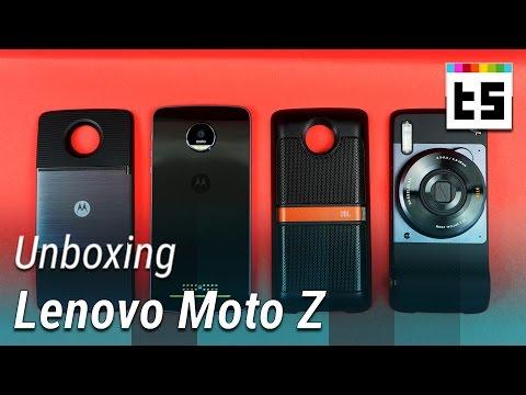 Moto Z mit Projektor, Kamera und Lautsprecher – Unboxing