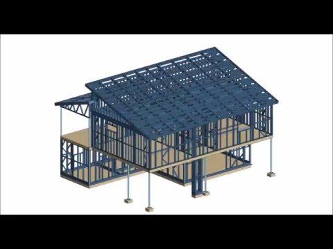 Design of light steel frame construction