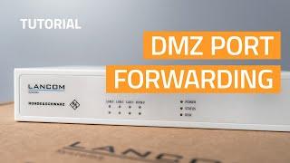 YouTube-Video Configuring DMZ port forwarding