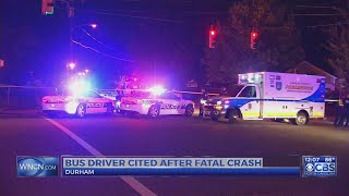 GoDurham bus driver charged in fatal pedestrian collision