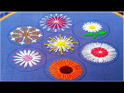 Extraordinary Hand Embroidery flower stitch,Exceptional All over hand Embroidery,हाथ की कढ़ाई 2020