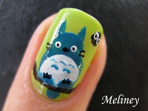 DIY: Totoro Nail Art