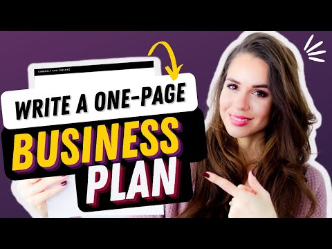 How To Write A 1-Page Business Plan For 2020 [Online Business 101]
