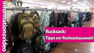 Rucksack: Tipps zum Rucksack-Kauf