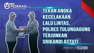 Tekan Angka Kecelakaan  Lalu Lintas,  Polres Tulungagung Terjunkan Srikandi Astuti
