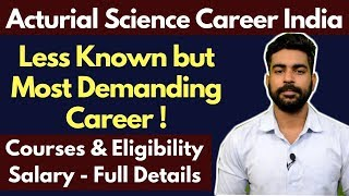 Actuarial Science Careers India | Less Known Career in India | Salary | ACET | IAI
