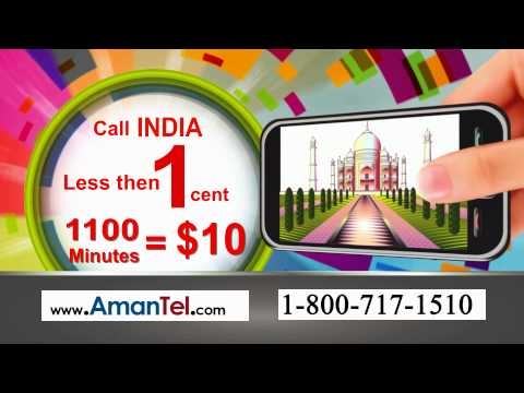 Amantel.com flat Rate Plan (Call India Flat Rate Plan @ 1 cents/min)