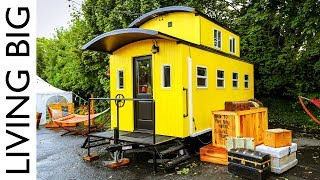 Beautiful Train Caboose Inspired Tiny House At Portland Hotel - Video Youtube