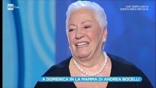 """La madre di Andrea Bocelli: """"Mi dissero di abortire, io rifiutai"""" - Domenica In 21/01/2018"""