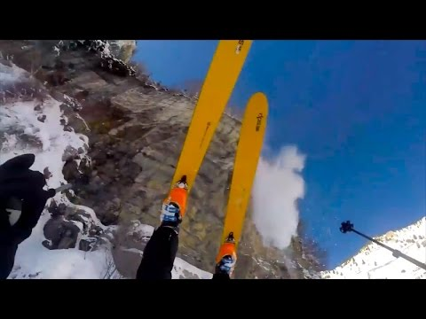 Skier Survives 150-Foot Cliff Fall Without A Single Scratch