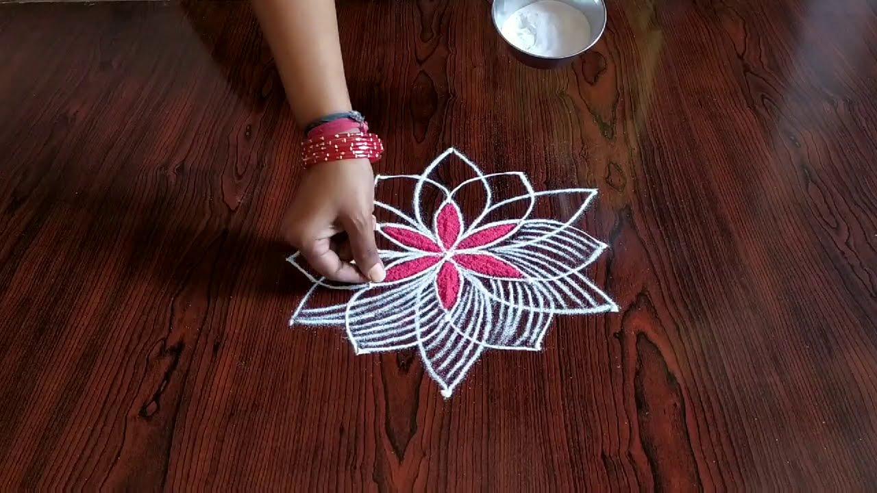 muggulu rangoli design for fridays by sresta rangoli