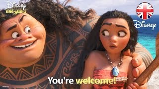 DISNEY SING-ALONGS | You're Welcome -  Moana Lyric Video | Official Disney UK