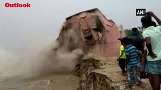 School Gets Washed Away In River Ganga In Bihar's Katihar