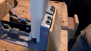 "Woodworking Joinery Tip - ""Half-Lap Pocket Hole Combo"" 2x4 Frame Fast and Strong"