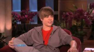 """Justin Bieber on The Ellen DeGeneres Show """"Baby"""" + Interview"""