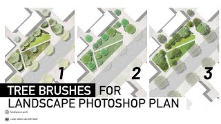How To Draw Trees On Landscape Plan Rendering In Photoshop