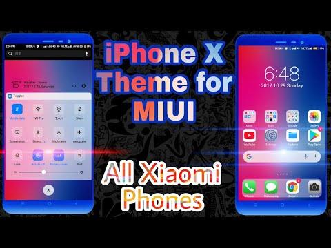 iPhone X Theme for miui 8 & miui 9 iphone x Theme for All xiomi