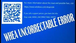 whea uncorrectable error stop code