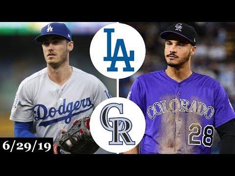 Los Angeles Dodgers vs Colorado Rockies - Full Game Highlights | June 29, 2019 | 2019 MLB Season