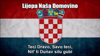 National Anthem of Croatia (Lijepa Naša Domovino) - Nightcore Style With Lyrics