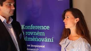 Rozhovor na téma rovnost mužů a žen na Konferenci o rovném odměňování v rámci Projektu 22% k rovnost