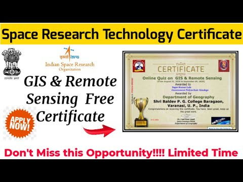 GIS & Remote Sensing Online Certificate || Free Certificate on ...
