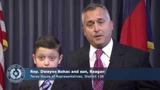 Texas State Representative Dwayne Bohac and son, Reagan