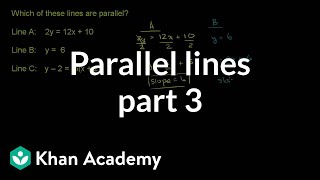 Parallel lines 3