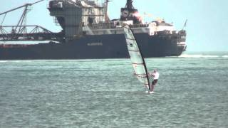 preview picture of video 'Windsurfing, Patterson Park, Michigan, September 11, 2011'